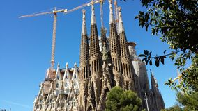 Sagrada Familia in Barcelona, Spain. View of the cathedral from the outside Stock Photos