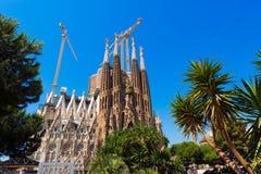 Sagrada Familia - Barcelona Spanien Fotografering för Bildbyråer