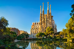 Sagrada Familia in Barcelona, Spanien stockfotos