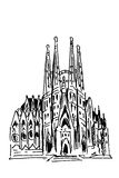 Sagrada Familia Barcelona spanien Lizenzfreie Stockbilder