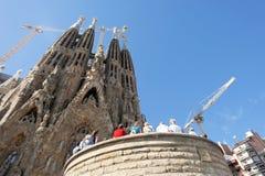 Sagrada Familia Barcelona Spanje Stock Foto's