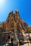 Sagrada Familia - Barcelona Spanje Royalty-vrije Stock Afbeeldingen