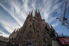 Sagrada Familia Barcelona, Spanje Stock Afbeelding