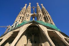 Sagrada Familia, Barcelone Photo stock