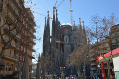 Sagrada Familia, Barselona, Spain. One of the most beautifull place in Barselona Stock Photo