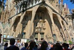 Barcelona, Catalonia. Sagrada Familia Basilica and the Holy Family Expiatory Church Royalty Free Stock Image