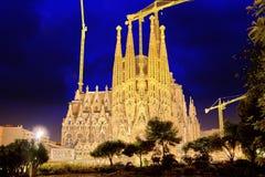 Sagrada Familia, beautiful and majestic interior view. Stock Images