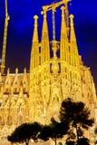 Sagrada Familia, beautiful and majestic interior view. Stock Image