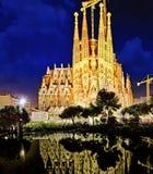 Sagrada Familia, beautiful and majestic interior view. Stock Photography