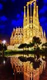Sagrada Familia, beautiful and majestic interior view. Stock Photo