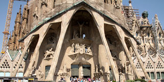 Sagrada Familia - catedral de Gaudi, en Barcelona Fotos de archivo libres de regalías