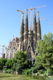Sagrada Familia Cathedral. By Gaudi. Barcelona, Spain Royalty Free Stock Photo