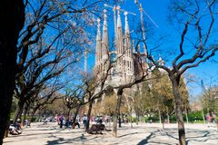 Sagrada familia cathedral Royalty Free Stock Photos