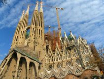Sagrada Familia Cathedral Royalty Free Stock Photo