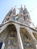 Sagrada Familia cathedral , Barcelona, Spain Royalty Free Stock Images