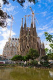 Sagrada Familia cathedral, Barcelona, Spain Stock Images