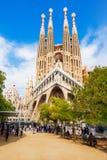Sagrada Familia cathedral in Barcelona Stock Photos