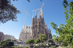 Sagrada Familia cathedral Barcelona Spain Stock Photos