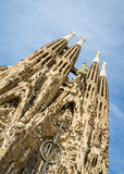 The Sagrada Familia cathedral in Barcelona, Spain Royalty Free Stock Photo