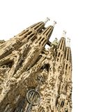 The Sagrada Familia cathedral in Barcelona, Spain Royalty Free Stock Photos
