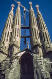 Sagrada Familia cathedral circa 1990 Royalty Free Stock Photo