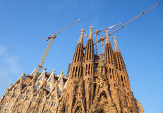 Sagrada Familia, the cathedral designed by Antoni Gaudi Royalty Free Stock Photo
