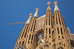 Sagrada Familia, the cathedral designed by Antoni Gaudi Royalty Free Stock Photography