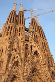 Sagrada Familia, the cathedral designed by Antoni Gaudi Royalty Free Stock Images