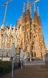 Sagrada Familia, cathedral designed by Gaudi Royalty Free Stock Images