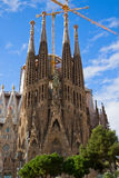 Sagrada Familia cathedral facade, Barcelona, Spain Stock Photos