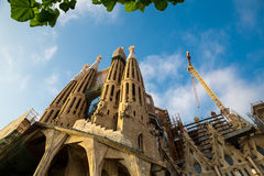 Sagrada Familia Cathedral Stock Photos