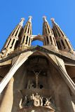 Sagrada Familia - cathedral by Gaudi, in Barcelona. La Sagrada Familia - the amazing cathedral designed by Gaudi, in construction since 1882, after Pope Royalty Free Stock Photography