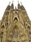 Sagrada Familia cathedral by Gaudi, Barcelona, Spain. Over a white background stock images