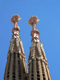 Sagrada Familia cathedrals  in Barcelona Royalty Free Stock Photos