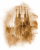 Sagrada Familia - Catholic church in Barcelona, Catalonia Royalty Free Stock Image