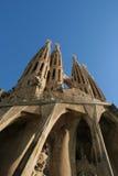 Sagrada Familia - cattedrale da Gaudi, a Barcellona fotografia stock libera da diritti