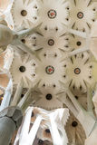 Sagrada Familia ceiling. Architecture detail.Barcelona Spain Stock Photography