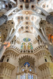 Sagrada Familia ceiling Stock Photos