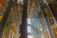 Sagrada Familia ceiling Stock Photo