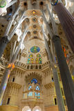Sagrada Familia ceiling Royalty Free Stock Photos