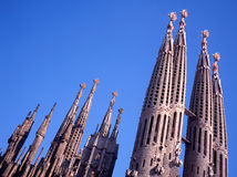 Sagrada Familia Church in Barcelona Royalty Free Stock Images