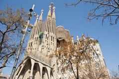 Sagrada Familia Church in Barcelona, Catalonia Royalty Free Stock Photography