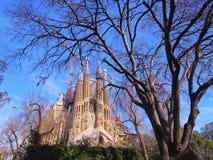 Sagrada Familia Church in Barcelona Stock Images