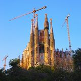 Sagrada Familia Church in Barcelona Stock Images