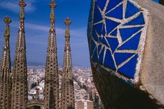 Sagrada Familia Church in Barcelona, Spain Stock Photos