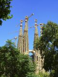 Sagrada familia church in Barcelona, Spain Stock Image