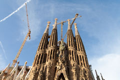 Sagrada Familia church, Barcelona, Spain. Royalty Free Stock Photo