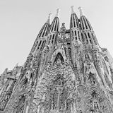 Sagrada Familia church in Barcelona, Spain. Royalty Free Stock Images