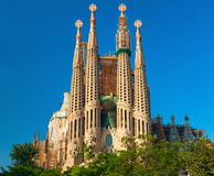 Sagrada familia church. Barcelona, Spain. Royalty Free Stock Images