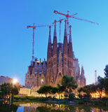 Sagrada Familia church  in Barcelona, Spain Royalty Free Stock Image